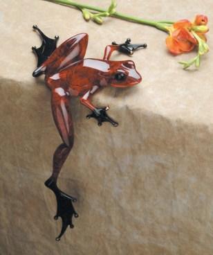 "Hung Over, Medium: Bronze Catalog: BF63 Size: 8.75"" x 6"" x 5"" Artist: Frogman"