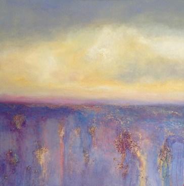 "Gloria, Medium: Original Oil on Rough Linen Size: 36"" x 36"" Artist: Georgeana Ireland"