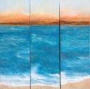 "Vista-Del-Mar, Medium: Original Oil on Rough Linen Size: 60"" x 60"" Artist: Georgeana Ireland"