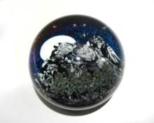 "Colorado-Night-Paperweight, Medium: Glass Size: 3.5"" x 3.5"" x 3.5"" Artist: Justin and Steven Lundberg"