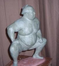 Sumo, Medium: Bronze Size: Artist: Dan McDermott