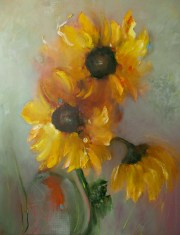 "Perugia Fields, Medium: Oil on Canvas Size: 60"" x 48"" #15506 Artist: Victoria Montesinos"