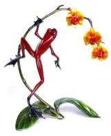 "Orchid, Medium: Bronze Catalog: BF142 Size: 16"" H x 10.5"" W x 15.75"" L Artist: Frogman"