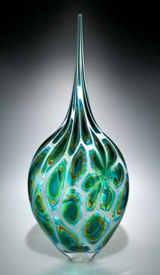 "Green-Gocld-Resistenza, Medium: Hand-Blown Glass Size: 28.5"" x 11"" x 4"" Artist: David Patchen #20192"