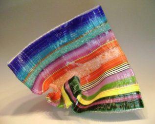 Garden-Dreams, Medium: Glass Tapestry Sculpture Size: Artist: Carole Perry