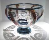 "Ancient-Foil-Clear-Bowl, Medium: Glass Canvas Size: 11"" x 15"" Artist: Tom Philabaum"