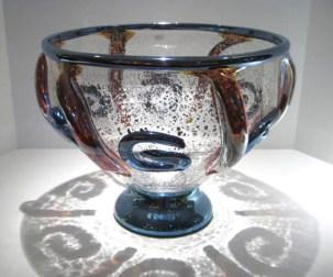 "Ancient Foil Clear Bowl, Medium: Glass Size: 11"" x 15"" Artist: Tom Philabaum #19497 Price: $2,750.00 REDUCED: $990.00"