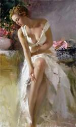 "Angelica, Medium: Hand Embellished Giclee Size: 42"" x 24"" Artist: Pino"