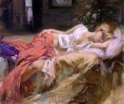 "Daydream, Medium: Hand Embellished Giclee Size: 30"" x 36"" Artist: Pino"
