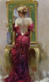 """Elegant-Seduction, Medium: Hand Embellished Giclee Size: 40"""" x 24"""" Artist: Pino"""