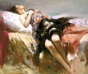 "Sensuality, Medium: Hand Embellished Giclee Size: 30 x 36"" Artist: Pino"