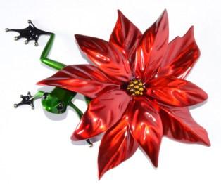 "Poinsettia, NEW RELEASE Release: 2015 Medium: Bronze Catalog: BF202 Edition Size: 500 Size: 11"" x 9"" x 3"" Artist: Frogman"