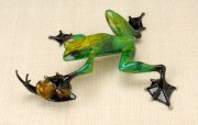 "Pond Pals, Medium: Bronze Catalog: BF104 Size: 2"" x 7.75"" x 7"" Artist: Frogman"