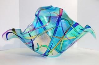 "SeascapeIV, Medium: Dichroic Glass Size: 14"" x 22"" x 13"" Artist: Gina Poppe"