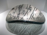 "Bamboo-Vessel-Bowl, Medium: Glass Size: 6.5"" x 15"" x 18"" Artist: Stephen Schlanser"