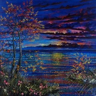 "Lyrical Passage, Medium: Original Acrylic on Canvas Size: 48"" x 48"" Artist: Ford Smith"