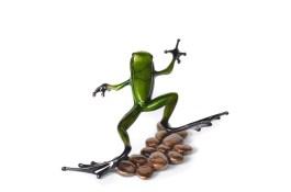 "Stepping Stone, Medium: Bronze Release: 2013 Edition: 5000 AP/100 Catalog: BF169 Size: 4.5"" x 4.25"" x 2.5"" Artist: Frogman"