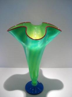 Strini-Aqua-Yellow-Trumpet-Vase
