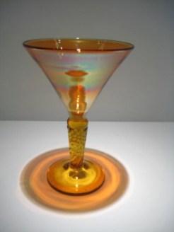 Strini-Iron-Gold-Amber-Martini-Glass