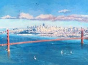 "Hawk Hill Original Oil on Canvas 30"" x 40"" Artist: Gina Tecson #19253"