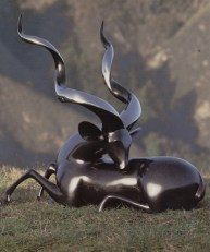 Kudu Greater, Medium: Bronze Size: Artist: Loet Vanderveen