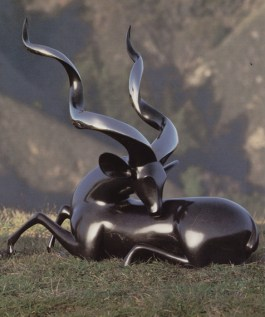 Kudu Greater, Medium: Bronze Size: Artist: Loet Vanderveen