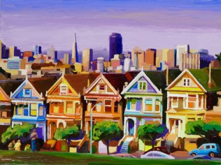 """Painted-Ladies, Medium: Original Oil on Canvas over Panel Board Size: 30"""" x 40"""" Artist: Russ Wagner #20079"""