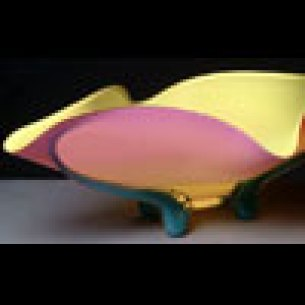 Mango Bowl Hand-Blown Glass 9.75 x 27.5 x 17.25