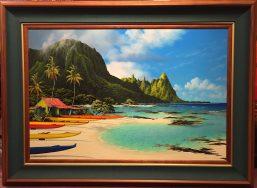 "Canoe House 20"" x 24"" F 25x31 #20866 Original Oil"
