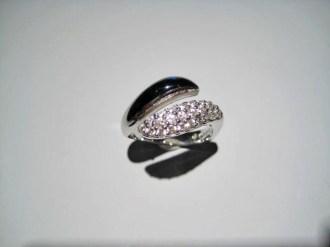 14K White Gold Black Onyx and Diamond Ring Artist: Kabana Stavros Catalog: 800-50-1