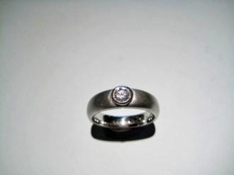 Platinum Ring with .30c Diamond Artist: Rodolph Erdel Catalog: 618-27-0