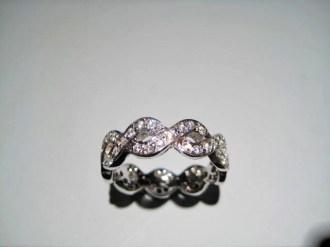 18K White Gold Ring with .88c Pave Diamond Artist: Steve Samuel Catalog: 610-88-7