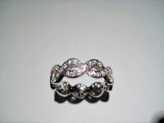 18K White Gold Ring with .88c Pave Diamond Artist: Steve Samuel Catalog: 610-88-7
