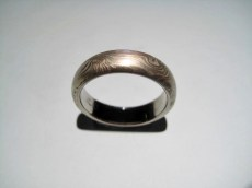 14K Grey Gold and Sterling Silver Ring Artist: George Sawyer Catalog: 902-29-3