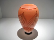 Peach Folded Lip Vase Artist: David Lindsey Catalog: 806-77-9