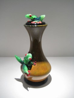 Frog Decanter Artist: Stuart Abelman Catalog: 547-49-3 #19390 Price: $1,300.00 REDUCED: $975.00