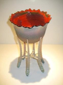 Organic Tusk Bowl Artist: Robert Mickelson Catalog: 896-84-2