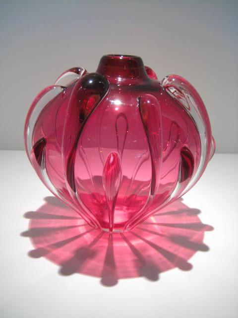 Ruby Vase Artist: Thomas Buechner Catalog: 461-07-0 #18969 Price: $950.00 REDUCED: $395.00