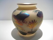 Round Etched Frog Vase Artist: Joe Morrel Zellique Catalog: 609-40-8