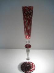 Tall Zanfirico Champagne Flute Artist: Chuck Savoie Catalog: 604-35-7