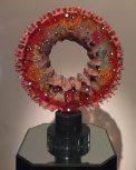 Calendar Wheel Cast Glass 24.5x8x20 Artist: Susan Gott