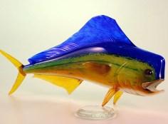 Mahi Mahi Hand Blown Glass Artists: Hopko