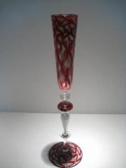 """Champagne Flute Artist: Chuck Savoie 16"""" x 2.5"""""""