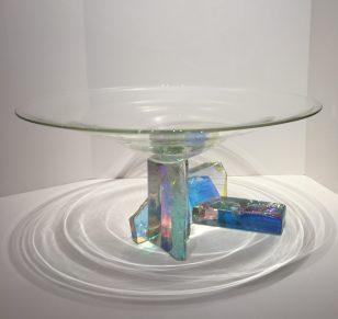 Dichroic Glass Bowl Dichroic Glass Artist: Steve Maslach 11.25 x 21.25 #20666