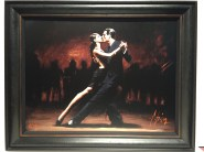 "Tango in Paris in Black Suit, Limited edition giclee on canvas Artist: Fabien Perez Size: 24"" x 30"" Inv. #16918"