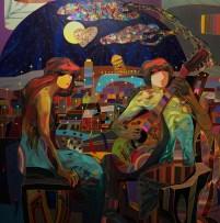 Paisaje Urbano, Original Acrylic on Canvas, Artist: Tadeo 50x50