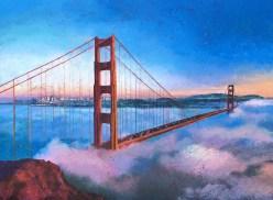 Fog City Blues, Oil on Canvas Artist: Gina Tecson Size: 30x40 Inv. #21568