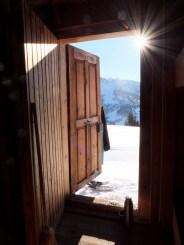 Sluneční paprsky winterraum pěkně prohřály