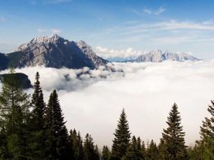 Ranní mlhy v údolí Ennsu