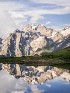 Gruzie, Svanetie, Koruldi lakes